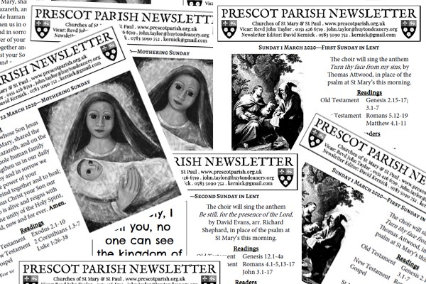 Subscribe to Prescot Parish Newsletter