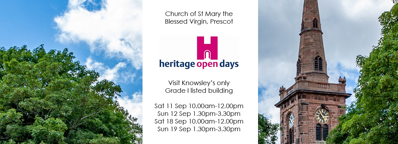 Explore Prescot Parish Church for Heritage Open Days